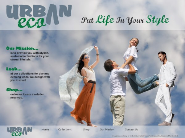 Urban Eco - Website Landing Page - February 2013